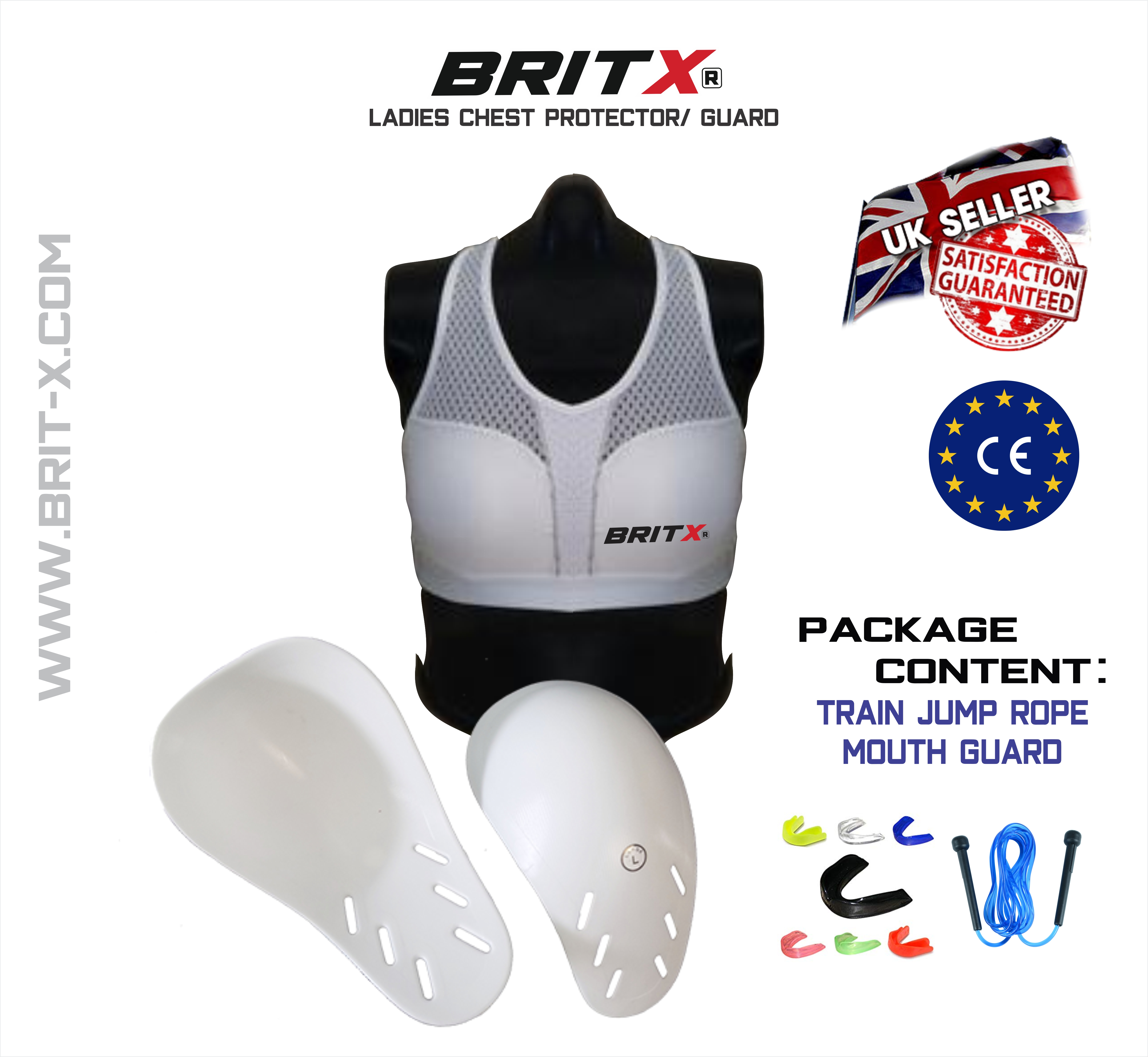 Ladies Chest Guard MMA Bra Sports Martial Protection White